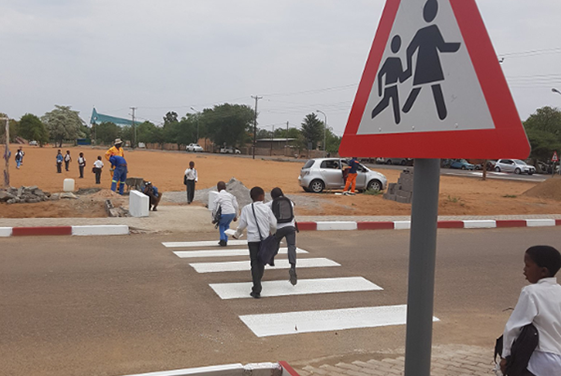 Safer schools in Botswana: Amend project in Botswana makes journeys safer for kids.
