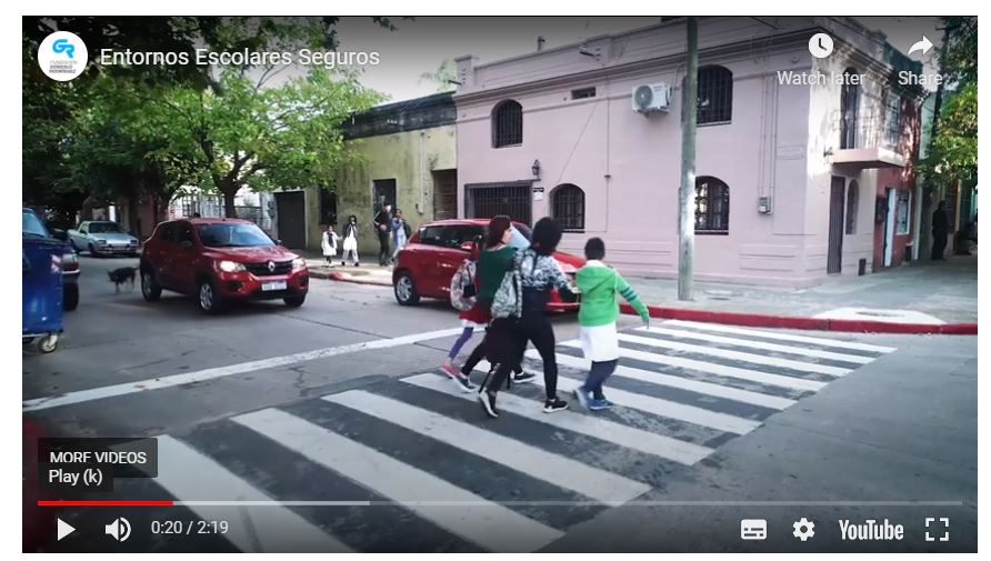 Gonzalo Rodriguez Foundation video highlights safer school zone results in Uruguay